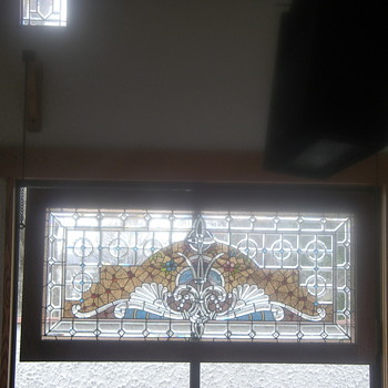 one of my favorite antique bevelled  crystal and stained glass.  - Art Glass