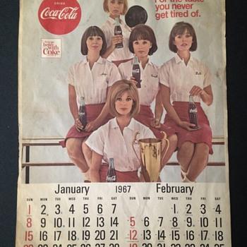 1967 Coca-Cola Calendar - Coca-Cola