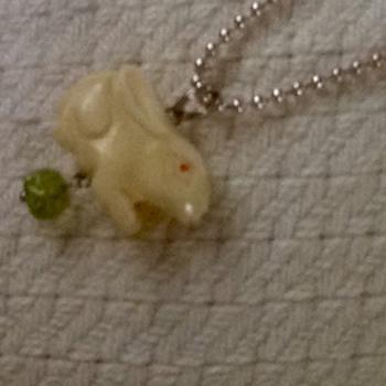 Eccentric bunny charm necklace