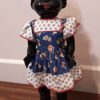 1950s 22 inch black Pedigree hard plastic doll - Dolls