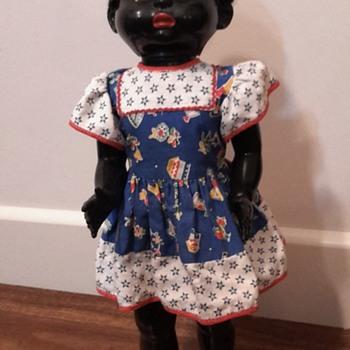1950s 22 inch black Pedigree hard plastic doll