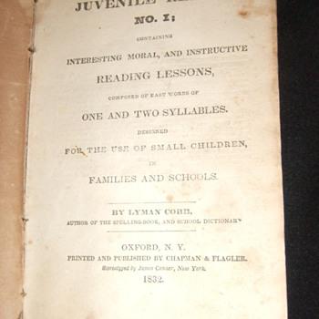 1832 Cobb's Juvenile Reader #1