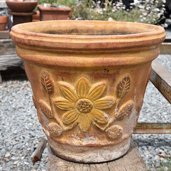Large Mexican Flower Pot - Pottery