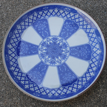 Blue and white Japan plate UAL PL013 - Asian