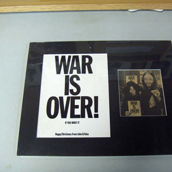 War Is Over postcard-1969... - Music Memorabilia