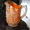 Another Carnival Glass Marigold Grape Pitcher Japanese Grandfather Brought Back to Japan