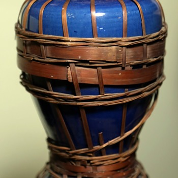 Awaji Vase with Basketry - Asian