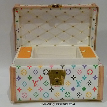 Louis Vuitton Jenny Lind Homage Toy, Doll Antique Trunk #2 - Furniture