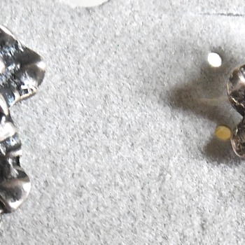 Three sterling screw back earring sets