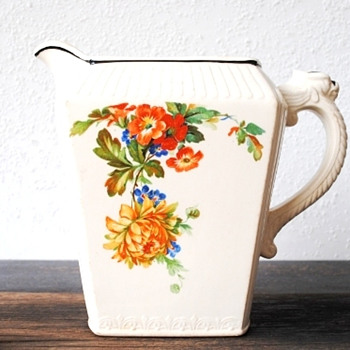 Harker Dragon Handle Pitcher 1B40 Pattern Help, Is this Melrose...Oriental Poppy...Something Else? - China and Dinnerware