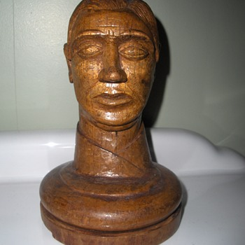 Mystery carved head.  Australian Trench Art? - Folk Art