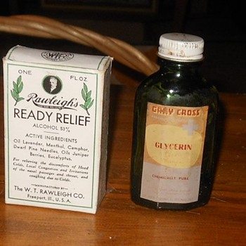 Vintage Medicine Bottles and Bandages
