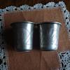 Sterling Russian Judaica cups hallmarked Austrian