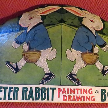 1925 Die Cut Peter Rabbit Painting And Drawing Book - Books