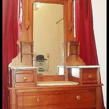 Antique Marble top dresser - Furniture