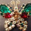 Juliana holiday butterfly brooch