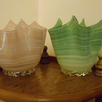 Murano Handkerchief Vases