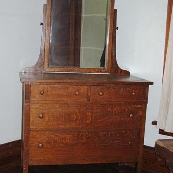 Mission Oak Dresser - Furniture