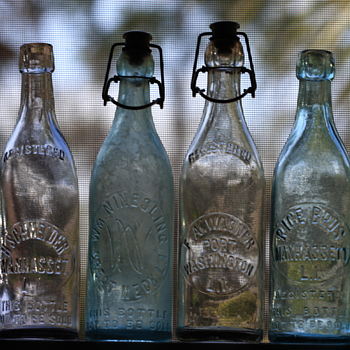 ~~~Long Island Blob Top Beer Bottles of the 1890's~~~ - Bottles