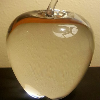 Steuben Crystal Apple  - Art Glass