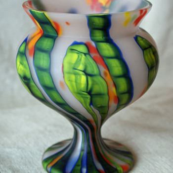 Kralik Bambus with a satin type finish - Not sure on shape name... - Art Glass