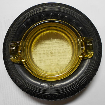 Firestone tire ashtray 1935 - Tobacciana
