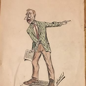 Newton  hand drawn