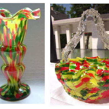Red, Yellow and Green Aventurine on a Clear Ground – Who Actually Made The Décor??  Welz!!  - Art Glass