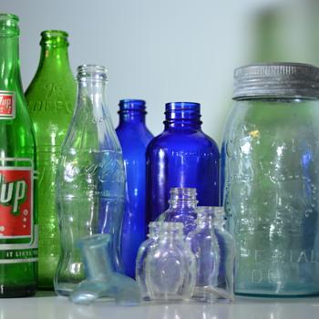 Various Dug Bottles - Bottles
