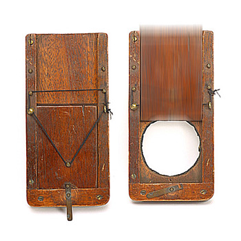 "Forrest's Patent ""Due-Ratio"" wooden drop shutter, c1888.  (the beauty of early camera shutters #5)"