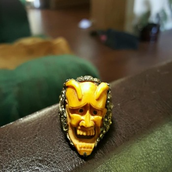 Chinasilver ivory devil ring