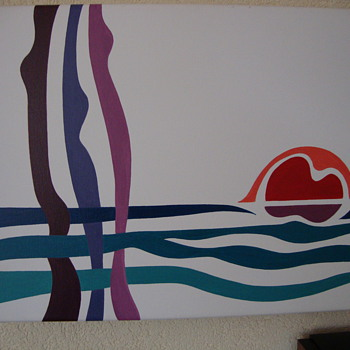 picture of 3 stylistic women at the beach at sunset - Posters and Prints