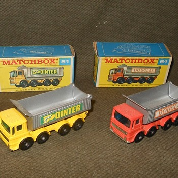 Matchbox Monday Matching Matchbox Tipper Trucks MB #51 1969 - Model Cars