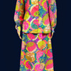 Fashion Designer Nelly DeGrab Psychedelic Maxi Dress, 1960s