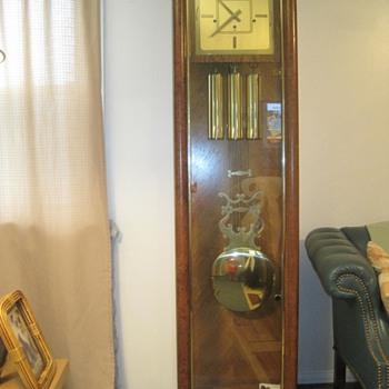sligh modern grandfather clock