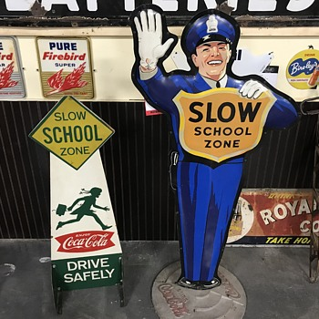 Coca Cola school zone signs   - Coca-Cola