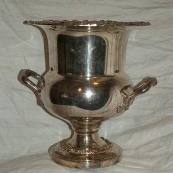 Vintage Champagne Bucket ~ Silver On Copper - Kitchen