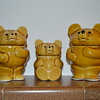 Teddy bear family - pottery jars