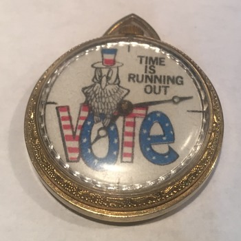 "Vintage ""Time Is Running out, Vote"" Pocket Watch - Pocket Watches"