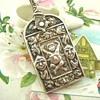 Unusual Victorian Arts & Crafts Silver Chatelaine