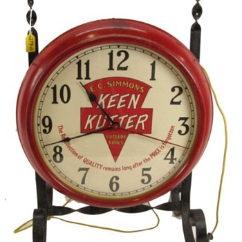 Keen Kutter Clock on Wrought-Iron Stand - Clocks