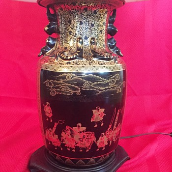 More info Please! Pair or Antique Lamps made of Chinese Vases