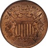 1864 Two Cent Piece with Small Motto IN GOD WE TRUST