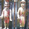 Punch and Judy wood carvings