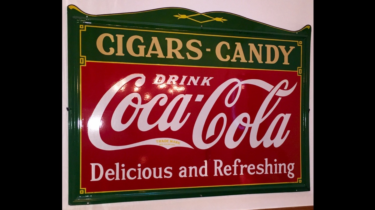 1930s COCA COLA CIGARS & CANDY PORCELAIN SIGN   Collectors Weekly