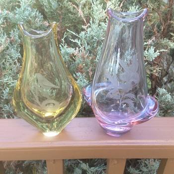 Zelezny Brodske Sklo (ZBS) designed by Miloslav Klinger. - Art Glass