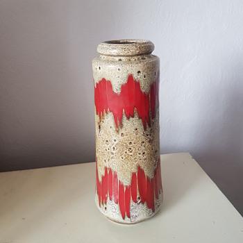 vintage 60-70s scheurich lora 206-26 vase west german pottery fat lava era art - Pottery