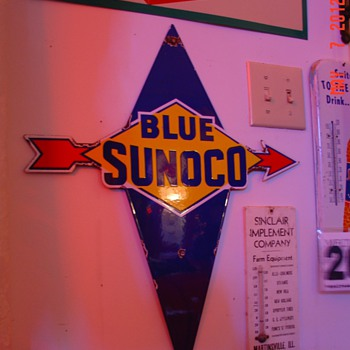 Blue Sunoco Porcelain Pump Plate Sign...Four Colors - Signs