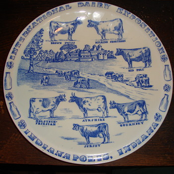 International Dairy Exposition..Indianapolis Indiana Plate....... - Pottery