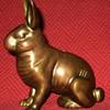 Brass Rabbit Still Bank